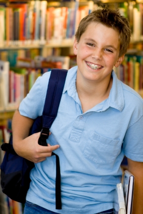 Boy with Braces - Pediatric Dentist in Mount Airy, MD